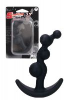 BEADED SİLİCONE BUTT PLUG BLACK