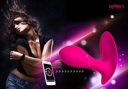 Leten LUCY Akıllı Telefon Uyumlu Giyilebilen Şarjlı Titreşimli Vibratör