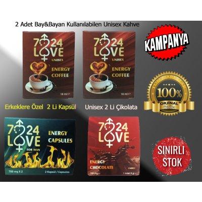 Erkek ve Bayanlara Özel Harika Set 2 Li Kapsül&2 Lİ Çikolata&2 Adet Kahve