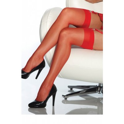 Kırmızı Dantelsiz Jartiyer Çorabı Kırmızı Standart