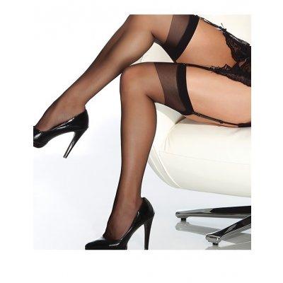Siyah Dantelsiz Jartiyer Çorabı Siyah Standart
