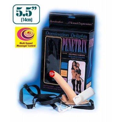 Süper Penetrix Çift Taraflı&Titreşimli Protez Penis