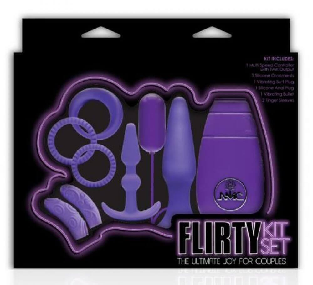 Flirty Kit Çiftler için Aşk Seti 2 (Mor)