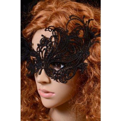 Dantel Şık Siyah Göz Maskesi