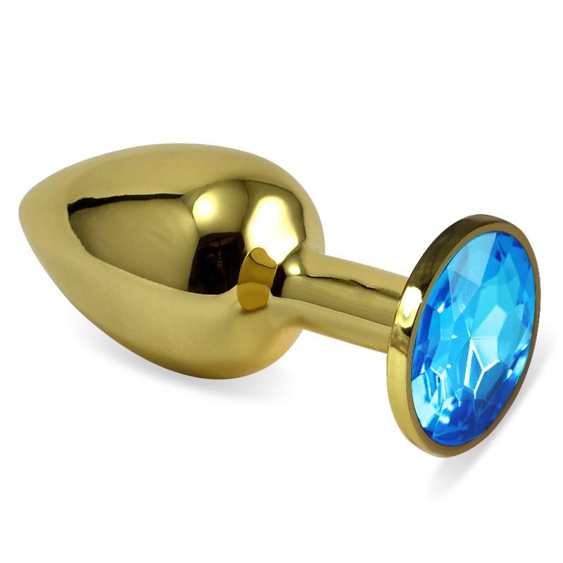 Gold Metal Taşlı Küçük Boy Anal Plug