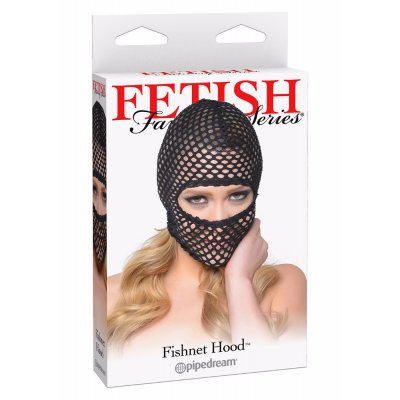 Pipedream Fishnet Hood Black Maske