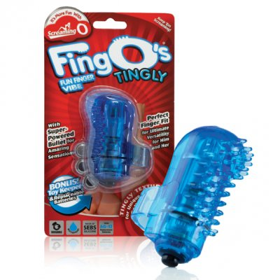 The Screaming O The Fingo Tingly Mavi Parmak Vibratörü